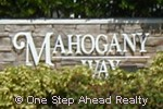 sign for Mahogany Way of TownGate