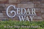 sign for Cedar Way of TownGate