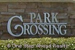 sign for Park Crossing of TownGate